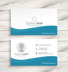 Simple clean business card vector