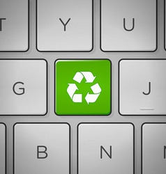 Recycle sign keyboard vector