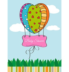 Beautiful baby shower card vector
