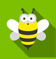 Bee flate icon for web and mobile vector