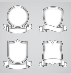 vintage heraldic elements vector image