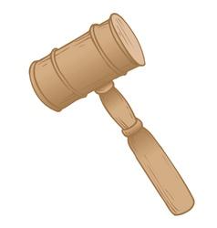 hammer courtroom vector image