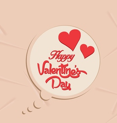 Happy valentines day bubble background vector