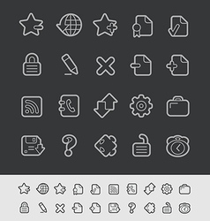 Web Icons Black Line vector image