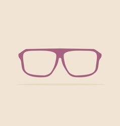Violet nerd glasses on pastel background vector image