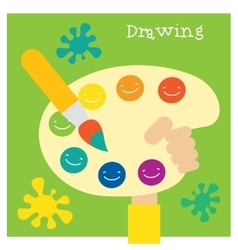 Children creativity and art development vector