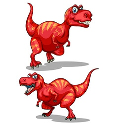Tyrannosaurus rex with sharp teeth vector