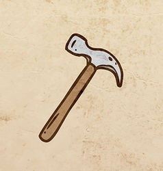 Hammer cartoon vector