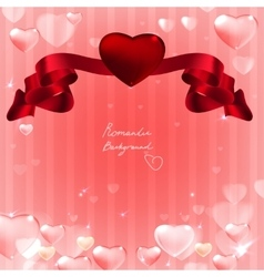 07 banner hearts background vector