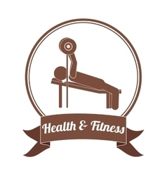 Health and fitness design vector