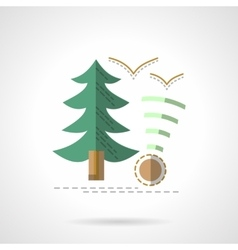 Green fir outdoor rest flat icon vector