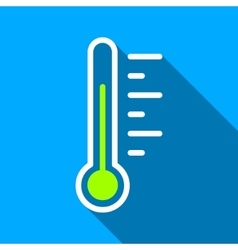 Temperature level flat long shadow square icon vector