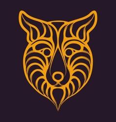 Abstract Fox Logo vector image