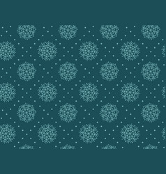 Abstract snowflakes plaid seamless pattern vector