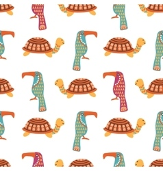 African animals cute seamless pattern vector