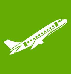 Aircraft icon green vector