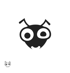 Ant head icon isolated on white background vector