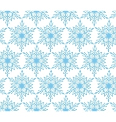 Blue snowflake christmas seamless background vector