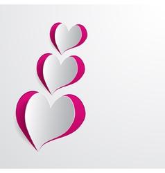 cut hearts vector image
