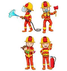 Firemen vector