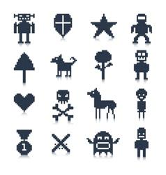Game pixel characters vector