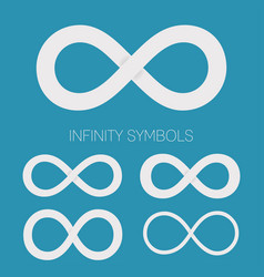 infinity symbols set different shapes for vector image vector image