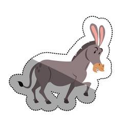 isolated donkey cartoon design vector image