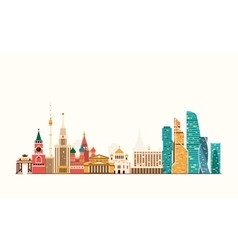 Moscow abstract skyline vector image vector image