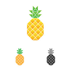 pineapple logo template fruit logotype vector image