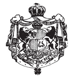 Romanian coat of arms is a european coat vintage vector