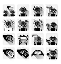 Set of chatbot icons concept of chat bot or vector