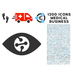 Smart contact lens icon with 1300 medical business vector