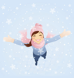 Snowing vector image