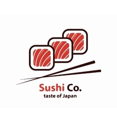 Sushi logo or icon vector