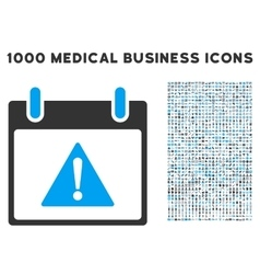 Warning calendar day icon with 1000 medical vector