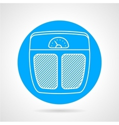 Weigh control flat icon vector