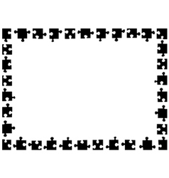 Puzzle frame vector