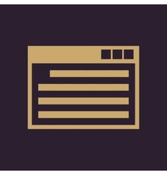 The website icon www and browser development vector