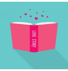 Book icon concept of love story fiction genre vector