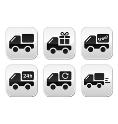 Delivery car buttons set vector