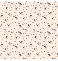 Jack russell terrier seamless pattern dog vector