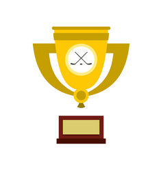 ice hockey cup icon flat style vector image