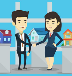 Agreement between real estate agent and buyer vector