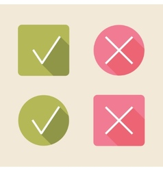 Check mark icons flat icons for web and mobile vector