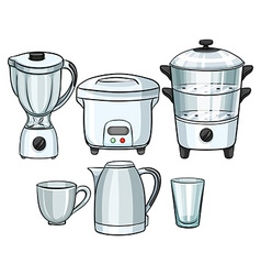 Electronic equipment using in kitchen vector