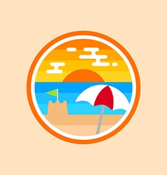 Beach badge vector image