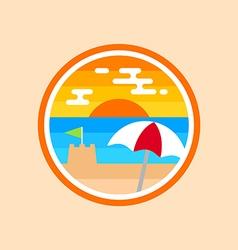 Beach badge vector