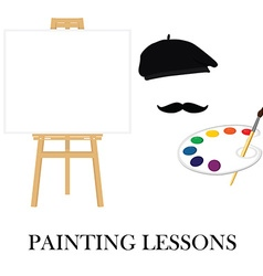 Painting school concept vector