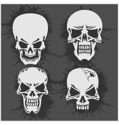 Cartoon skulls design vector