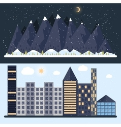 A flat design with city vector
